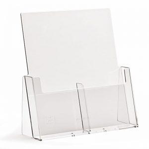 Επιτραπέζιο stand για έντυπα διάστασης 1/3 Α4, 2 θέσεων.