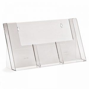Επιτραπέζιο stand για έντυπα διάστασης 1/3 Α4, 3 θέσεων.