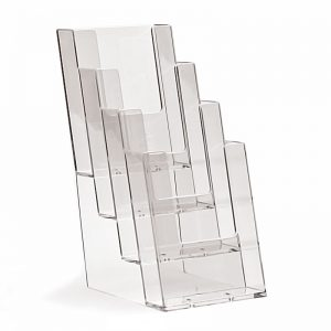 Επιτραπέζιο stand για έντυπα διάστασης 1/3 Α4, 4 θέσεων.