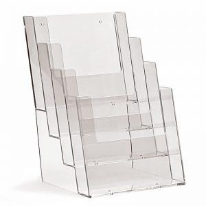 Επιτραπέζιο stand για έντυπα διάστασης Α5, 4 θέσεων.