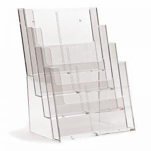 Επιτραπέζιο σταντ εντύπων 4 θέσεων σε κάθετη διάταξη, για έντυπα Α4ω