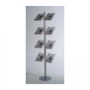 Stand δαπέδου από profile αλουμινίου 6 ή 8 θέσεων για έντυπα Α4.
