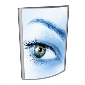 Lightbox εκτυπώσεων | Φωτιζόμενα διαφημιστικά σταντ μονής όψης με κυρτές επιφάνειες, επιδαπέδιο, επιτοίχιο ή κρεμαστό. Ιδανικό για events