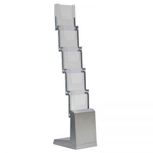 Πτυσσόμενο stand δαπέδου από αλουμίνιο 5 θέσεων για έντυπα Α4.