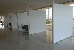 Διαχωριστικά εσωτερικού χώρου με προφίλ αλουμινίου και ύφασμα