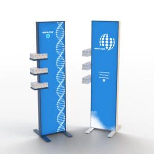 Επιδαπέδια stands για προϊόντα ειδικής κατασκευής, από Plexiglas