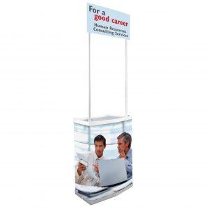 Promo stand από pvc, απλό στην συναρμολόγηση, κατάλληλο για εκθέσεις, προώθηση προϊόντων