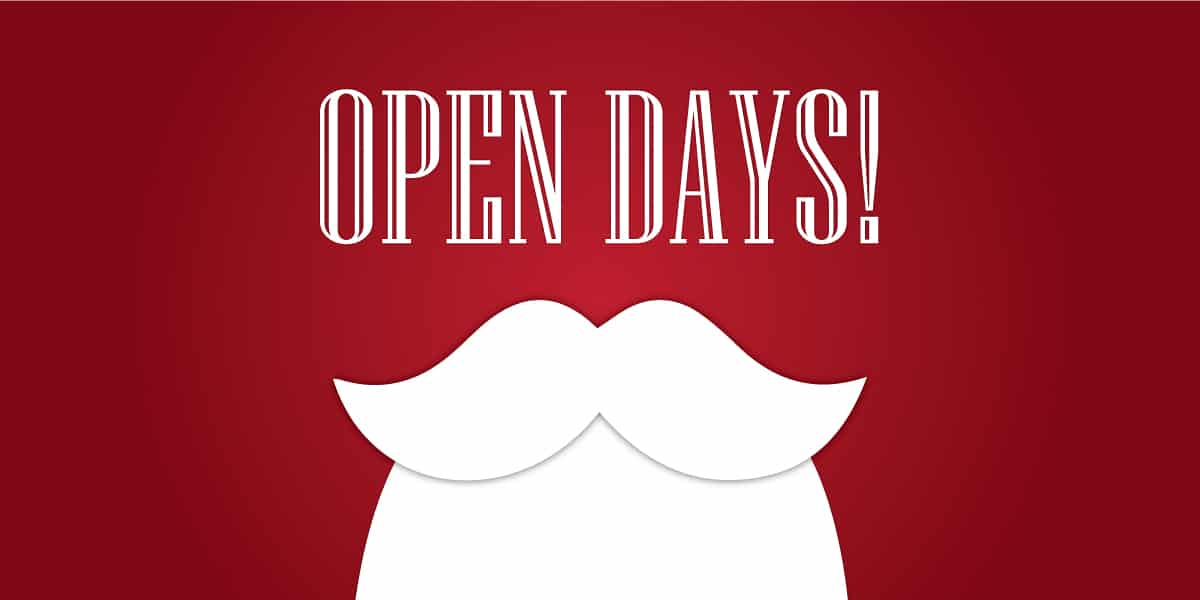 Christmas Open days