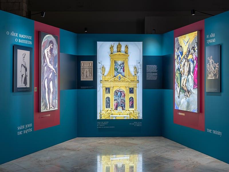 Επιτοίχιο Light box Multiplo, έκθεση El Greco