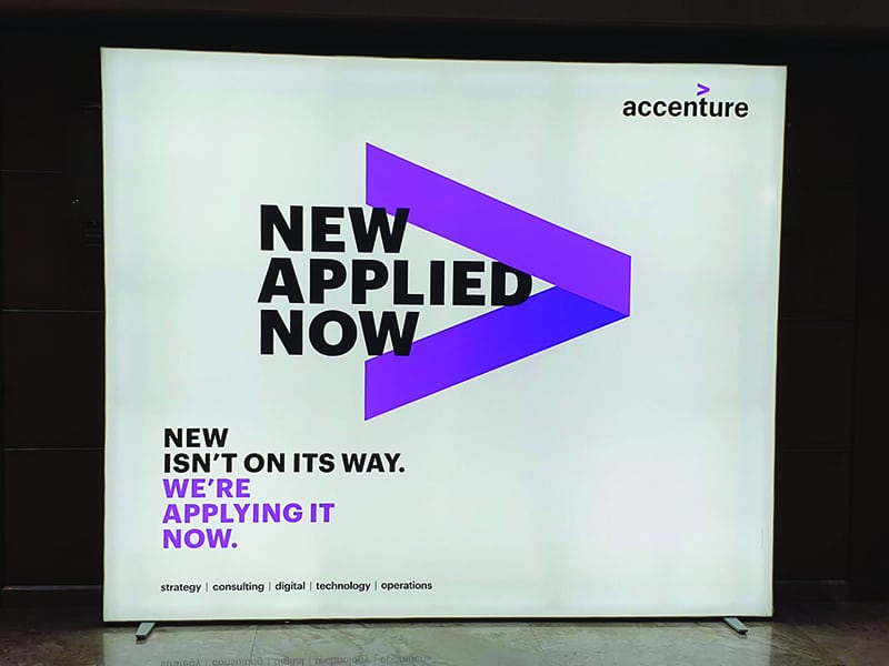 Backdrop LED Multiplo, Accenture
