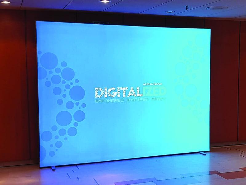 Backdrop LED Multiplo, Digitalized