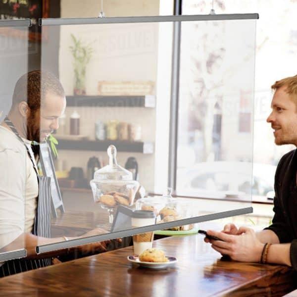 Προστατευτικό διαχωριστικό μπάρας εστιατορίου- μπαρ-καφετέριας