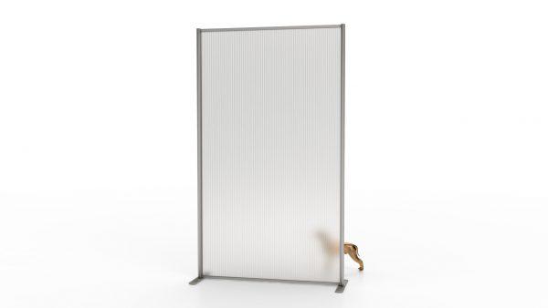 Αυτοστήρικτο διαχωριστικό, τύπου simple eco, από προφίλ αλουμινίου και επιφάνεια από διάφανο Plexiglas